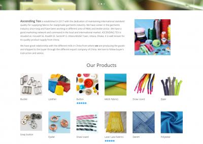 garments website